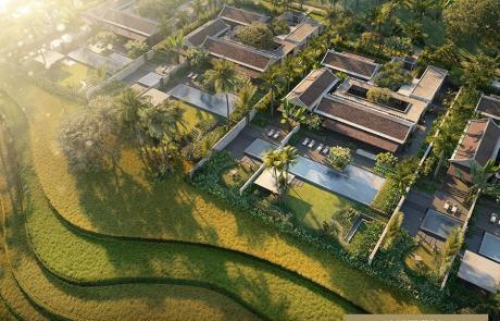 Hình ảnh phối cảnh dự án biệt thự Park Hyatt Phú Quốc.