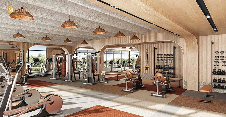 Phòng tập Gym cao cấp, hiện đại nâng cao sức khỏe cho cư dân.