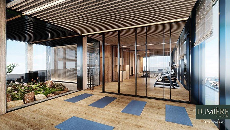 Phòng tập Gym với trang thiết bị hiện đại nhất giành cho cư dân.