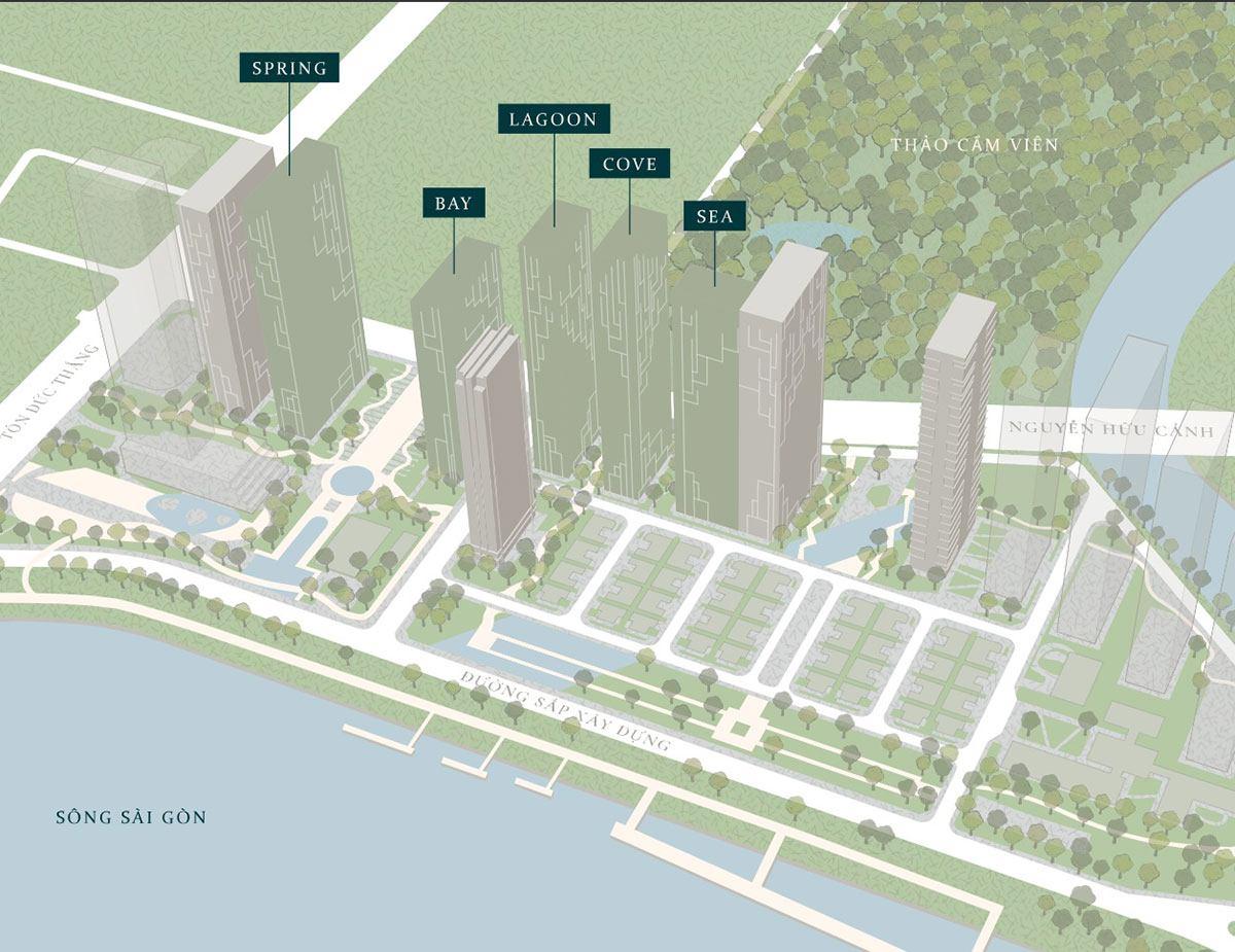 Mặt bằng phân khu Legacy của dự án Marina Saigon.