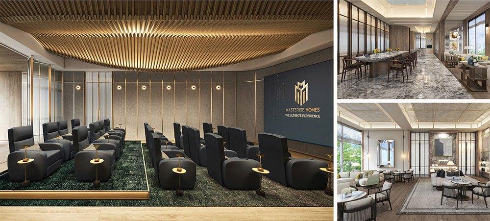 Các gia chủ có thể sử dụng phòng thư viện, phòng vui chơi dành cho trẻ em, phòng họp hiện đại.